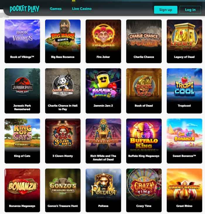 Pocket Play Casino Free Spins Bonus