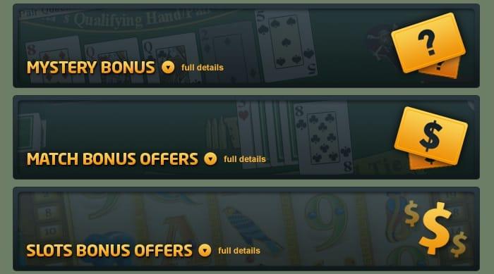 Mystery Bonus, Match Bonus Offers, Slot Bonus Promotions